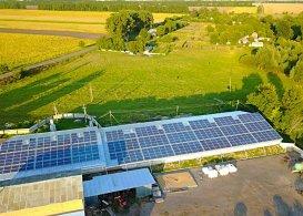 Промышленная сетевая солнечная электростанция мощностью 120 кВт, г. Лубны