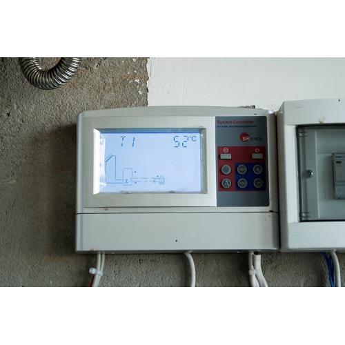 Система ГВС и поддержки отопления на двух вакуумных гелиоколекторах