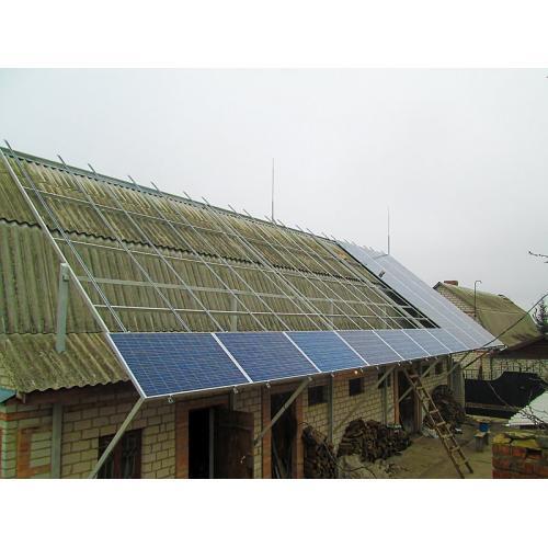 Солнечная электростанция мощностью 15 кВт под зеленый тариф