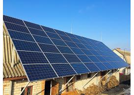 Сетевая солнечная электростанция мощностью 15 кВт г. Бердычев