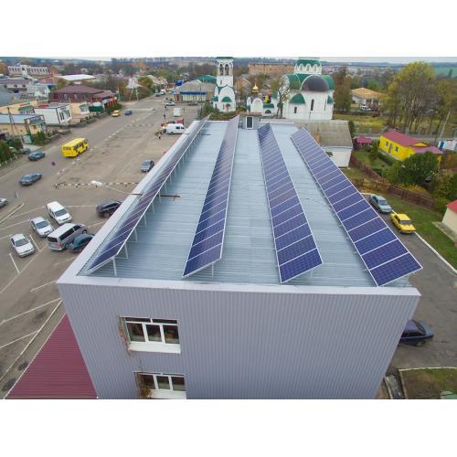 Сетевая солнечная электростанция мощностью 30 кВт, торговый центр
