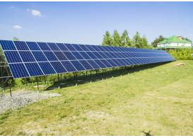 Сетевая солнечная электростанция мощностью 30 кВт, с. Крячки