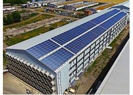 Промышленная сетевая солнечная электростанция мощностью 303 кВт, птицефабрика