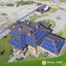 Сетевая солнечная электростанция мощностью 30 кВт с. Рудики, лето 2018