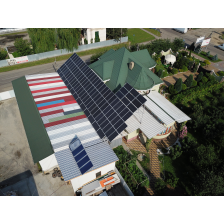 Сетевая солнечная электростанция мощностью 30 кВт, г. Виноградов