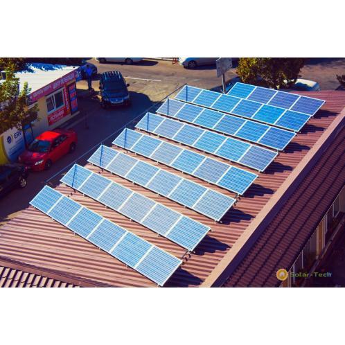 Сетевая солнечная электростанция мощностью 11,5 кВт г. Киев