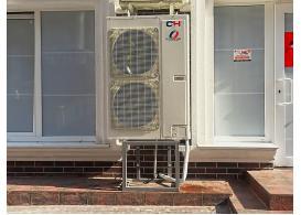 """Система отопления  на основе теплового насоса """"воздух-вода"""". Фитнес центр """"Морква""""."""