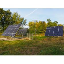 Гибридная солнечная электростанция с использованием системы автоматического слежения за солнцем мощностью 15,6 кВт