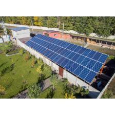 Гибридная солнечная электростанция мощностью 10,8 кВт + сетевая 10 кВт, с. Леточки