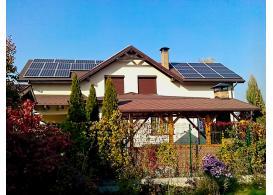 Гибридная солнечная электростанция мощностью 7 кВт с. Подгорцы