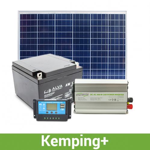 Автономная система  для кемпинга+, 500-600 Вт*ч в день, 15-18 кВт*ч/месяц