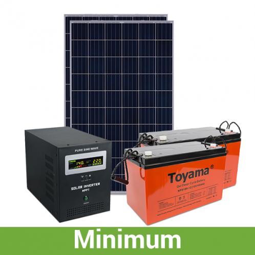 """Солнечная станция для дачи """"минимум"""", 2,5 кВт*ч в день, 60-90 кВт*ч/месяц"""