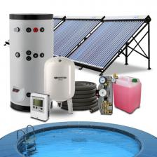 Гелиосистема подогрева бассейна 24-32 куб.м. и горячего водоснабжения на 200 литров