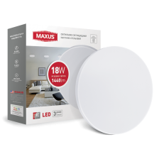 Светодиодный светильник накладной MAXUS 18W 4100K круглый