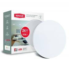 Светодиодный светильник накладной MAXUS 24W 4100K круглый