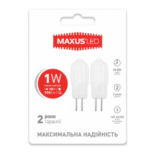 LED лампы MAXUS G4 2W теплый свет 12V AC/DC (2-LED-205)