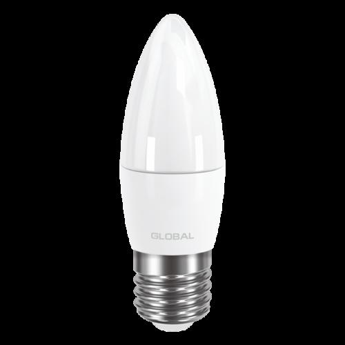 GLOBAL C37 CL-F 5W яркий свет 220V E27 AP (1-GBL-132)
