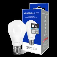GLOBAL A60 8W яркий свет 220V E27 AL (1-GBL-162)