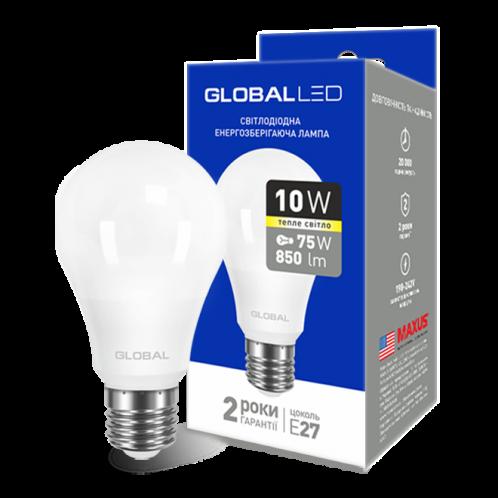 GLOBAL A60 10W мягкий свет 220V E27 AL (1-GBL-163)