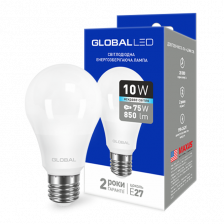 GLOBAL A60 10W яркий свет 220V E27 AL (1-GBL-164)