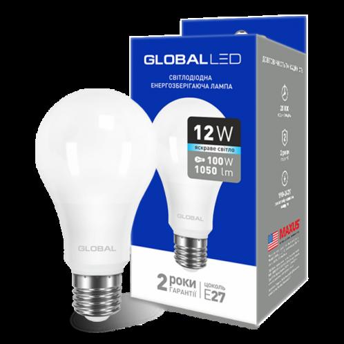 GLOBAL A60 12W яркий свет 220V E27 AL (1-GBL-166)