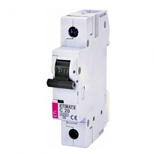 Автоматический выключатель ETIMAT 6 1p C20