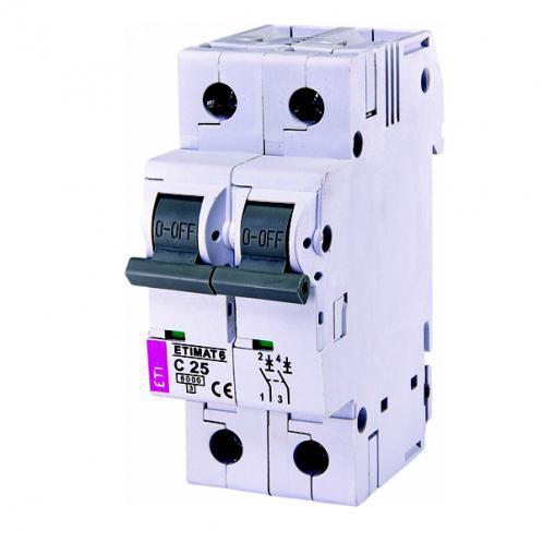 Автоматический выключатель ETIMAT 6 2p C25