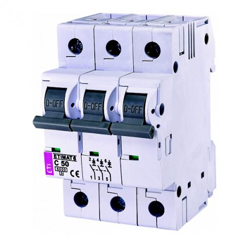Автоматический выключатель ETIMAT 6 3p C50