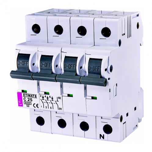 Автоматический выключатель ETIMAT 6 3p+N C25
