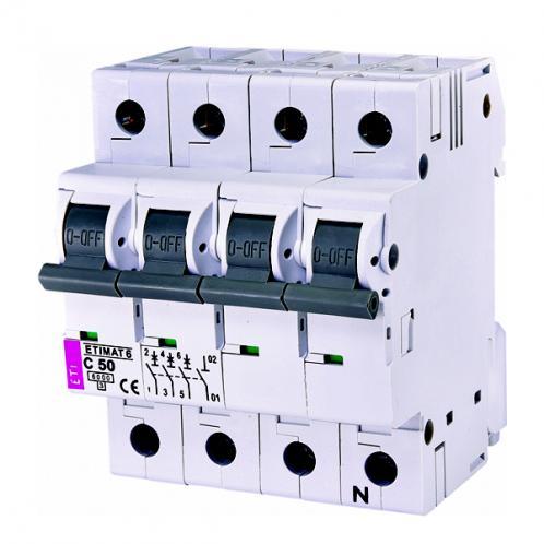 Автоматический выключатель ETIMAT 6 3p+N C50