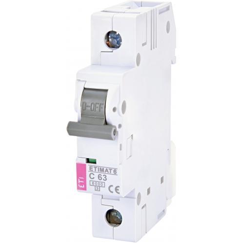 Автоматический выключатель ETIMAT 6 1p C63