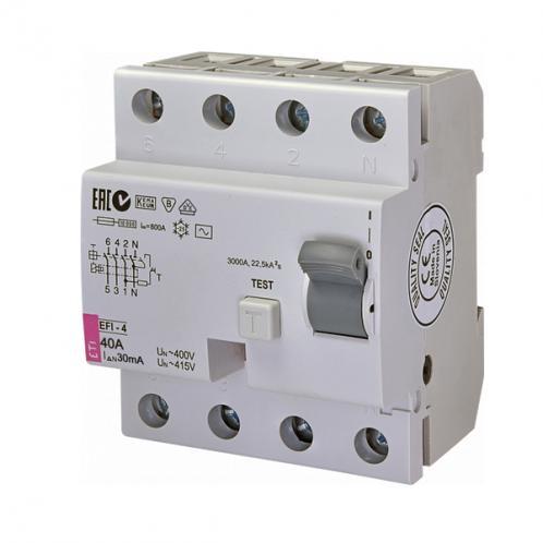 Дифференциальное реле EFI-4 AC 40/0.03