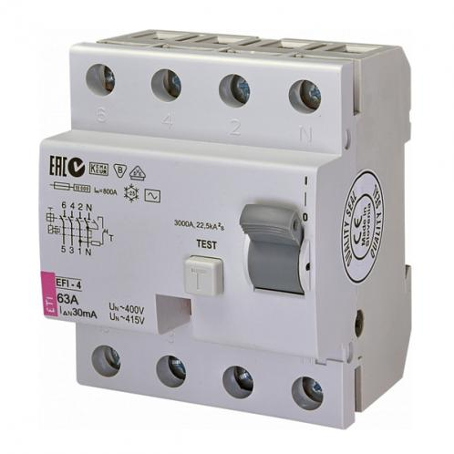 Дифференциальное реле EFI-4 AC 63/0.03