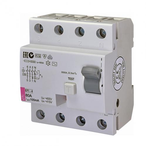 Дифференциальное реле EFI-4 AC 80/0.1