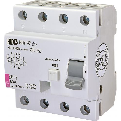 Дифференциальное реле EFI-4AC 63/0.3