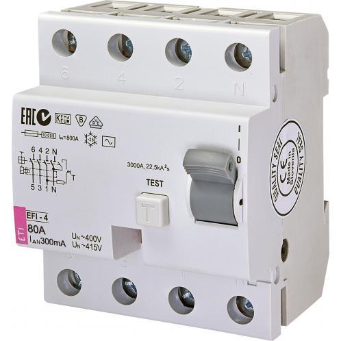 Дифференциальное реле EFI-4AC 80/0.3