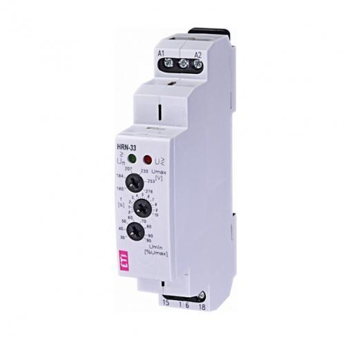 Реле контроля напряжения в 1-фазных сетях HRN-33