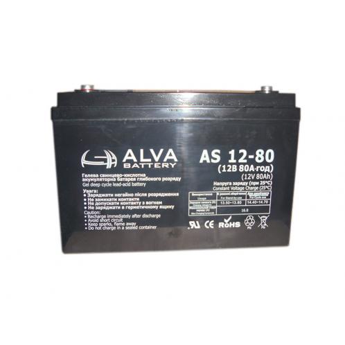 Аккумуляторная батарея ALVA AS12-80