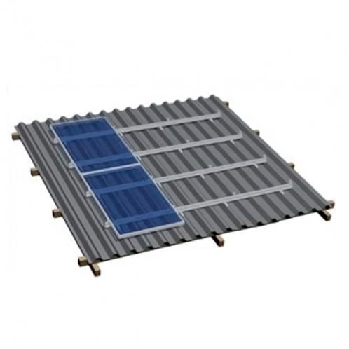 Комплект для наклонной крыши на 4 модуля, оцинковка