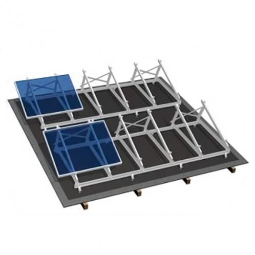 Комплект для плоской крыши на 10 модулей, алюминий