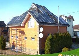 Сетевая солнечная электростанция мощностью 12,5 кВт г. Борисполь, весна 2019