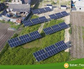 Сетевая солнечная электростанция мощностью 30 кВт, Радивилов, весна 2019 г.