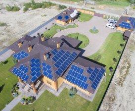Мережева сонячна електростанція потужністю 30 кВт с. Рудики, літо 2018