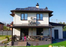 Сетевая солнечная электростанция мощностью 6,6 кВт, с. Вита-Почтовая, весна 2019 (1я очередь)