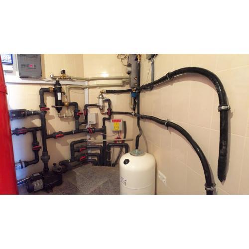 Система горячего водоснабжения (ГВС) и подогрев крытого бассейна 23 куб.м