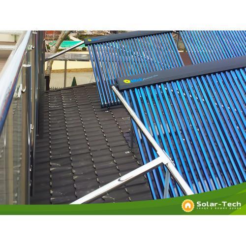 Система гарячого водопостачання та підтримки опалення на вакуумних геліоколекторах