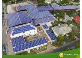Промышленная сетевая солнечная электростанция мощностью 500 кВт, Одесская обл. (лето 2019)