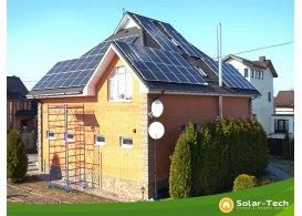 Мережева сонячна електростанція потужністю 15 кВт м. Бориспіль, весна 2019