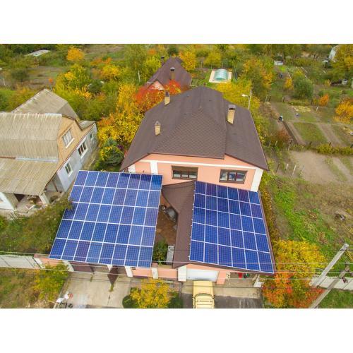 """Сетевая солнечная электростанция мощностью 15 кВт под """"зеленый"""" тариф"""