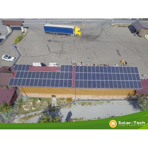 Сетевая солнечная электростанция мощностью 30 кВт под собственное потребление